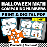 Halloween Math Activities, Comparing Numbers Task Cards, 1st Grade Math Review