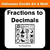 Halloween Math: Convert Fractions to Decimals - Doodle Art & Math