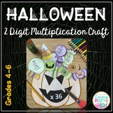 Halloween Math Craft 2 Digit by 2 Digit Multiplication and Multi Digit Mult