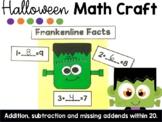 Halloween Math Craft-Addition, Subtraction, Missing Addend
