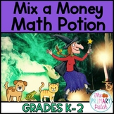 Halloween Math Craftivity: Mix A Money Potion (Room on the Broom)