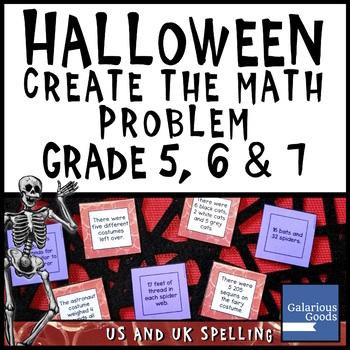 Halloween Create Math Questions