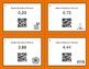 Halloween Math: Decimals to Percents QR Code Task Cards