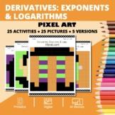 Halloween Math: Derivatives Exponents and Logs Pixel Art M
