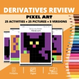 Halloween Math: Derivatives REVIEW Pixel Art Mystery Pictures