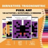 Halloween Math: Derivatives Trigonometric Pixel Art Myster