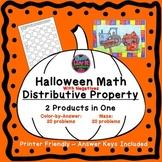 Halloween Math Distributive Property Negatives Fall Activity Bundle