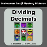 Halloween Math: Dividing Decimals - Color-By-Number Myster