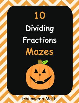 Halloween Math: Dividing Fractions Maze