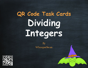 Halloween Math: Dividing Integers QR Code Task Cards