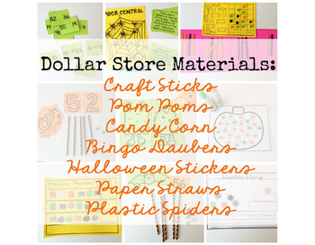 Halloween Math  Dollar Store Centers