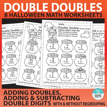 Halloween Math: Doubles & Adding / Subtracting Double Digits