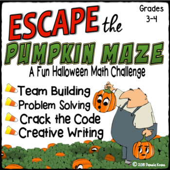 Escape Room Halloween Math : 3-digit Addition, Subtraction Crack the Code Gr 3-4