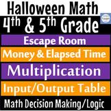 Halloween Math Escape Room Amusement Park Self Graded Google Forms 4th 5th Grade