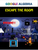 Halloween Math Escape The Room Algebra Order of Operations
