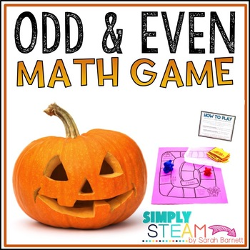 Halloween Math Game Even and Odd Numbers Game {2.OA.3, 2.O