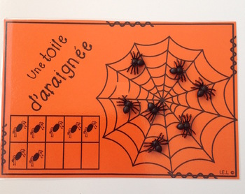 Halloween Math (FRENCH) - Une toile d'araignée