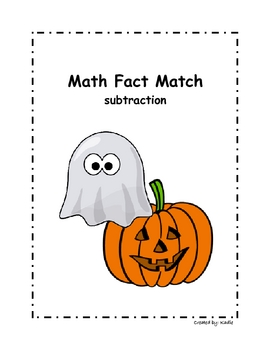 Halloween Math Fact Match - Subtraction