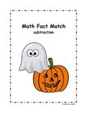 Halloween Math Fact Match - Subtraction