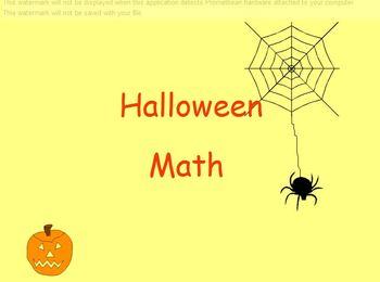 Halloween Math Facts Activboard flipchart