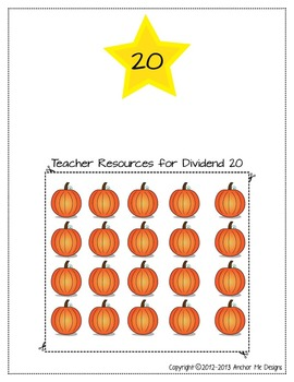Halloween Math & Fall Math: Division Word Problems Center Regular Special Ed