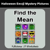 Halloween Math: Find the Mean (Average) - Color-By-Number