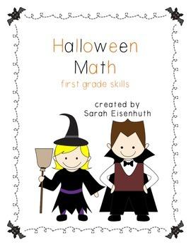 Halloween Math - First Grade Skills