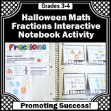 Halloween Math Activities 3rd Grade Fractions Interactive Notebook