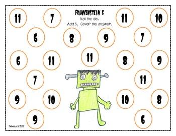 Halloween Math: Frankenstein Five