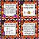 Math Spiral Review Task Cards Halloween Freebie