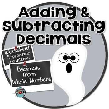 Halloween Math Freebie- Adding and Subtracting Whole Numbers & Decimals