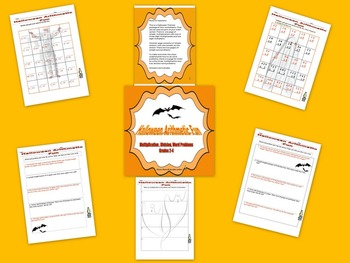 Halloween Arithmetic Fun Multiplication, Division & Word Problems, Grades 2-4