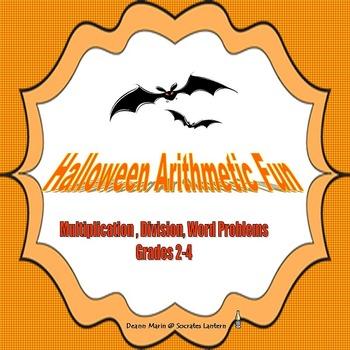 Halloween Arithmetic Fun Multiplication, Division & Word P