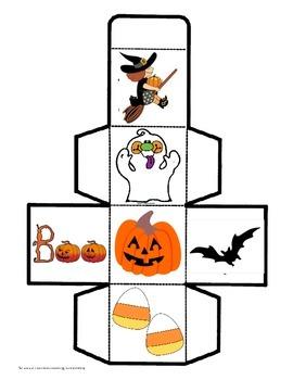 Halloween Math cube Game