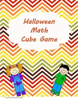 Halloween Math cube Game