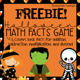 Halloween Math Facts Game