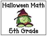 Halloween Math Game - 5th Grade