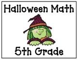 Halloween Math Game - 5th Grade