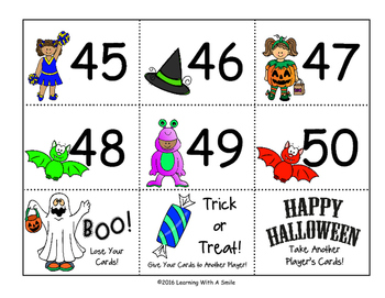 Halloween Math Game: BOO! Top-That! (Small Groups or Math Centers)