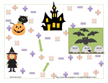 Halloween Math Game Board