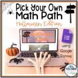 "Halloween Math Game - Digital ""Choose Your Own Math Adventure"""