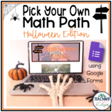 """Halloween Math Game - Digital """"Pick Your Own Path"""""""