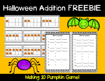 Halloween Math Game FREE