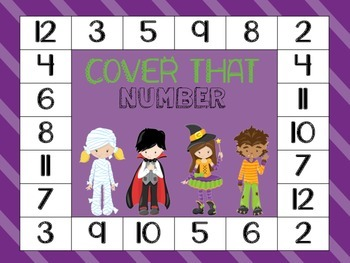 Halloween Math Game FREEBIE