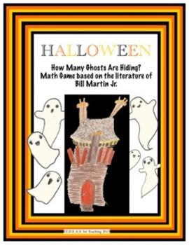 Halloween Bill Martin Jr. Math Game:  OLD DEVIL WIND Hiding Ghosts!
