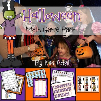 Halloween Math Game Pack - Games for Centers and Large Group