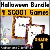 Halloween Math Game | Scoot and Activities Bundle