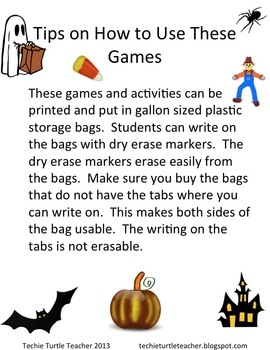 Halloween Math Games (2.OA.2)