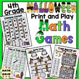 Halloween Math Games - 4th Grade
