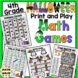 4th Grade Halloween Math: 4th Grade Math Games
